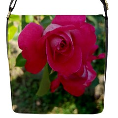 Romantic Red Rose Photography Flap Messenger Bag (s) by yoursparklingshop
