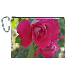 Romantic Red Rose Photography Canvas Cosmetic Bag (xl) by yoursparklingshop