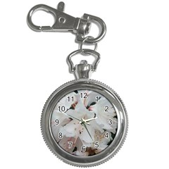Floral Design White Flowers Photography Key Chain Watches by yoursparklingshop