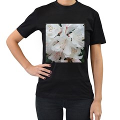 Floral Design White Flowers Photography Women s T Shirt (black) (two Sided) by yoursparklingshop