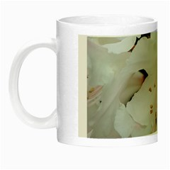 Floral Design White Flowers Photography Night Luminous Mugs by yoursparklingshop