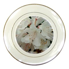 Floral Design White Flowers Photography Porcelain Plates by yoursparklingshop