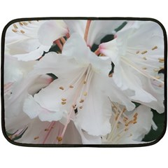 Floral Design White Flowers Photography Double Sided Fleece Blanket (mini)  by yoursparklingshop
