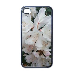Floral Design White Flowers Photography Apple Iphone 4 Case (black) by yoursparklingshop