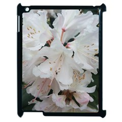 Floral Design White Flowers Photography Apple Ipad 2 Case (black) by yoursparklingshop