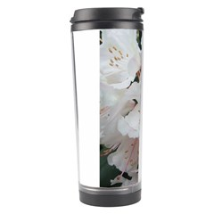 Floral Design White Flowers Photography Travel Tumbler by yoursparklingshop