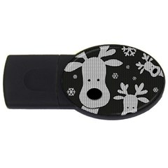 Cute Reindeer  Usb Flash Drive Oval (2 Gb) by Valentinaart