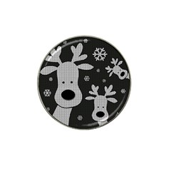 Cute Reindeer  Hat Clip Ball Marker by Valentinaart