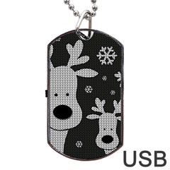 Cute Reindeer  Dog Tag Usb Flash (two Sides) by Valentinaart