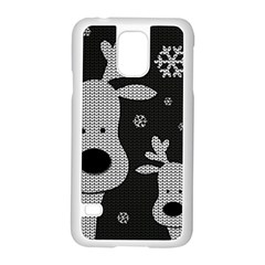 Cute Reindeer  Samsung Galaxy S5 Case (white) by Valentinaart