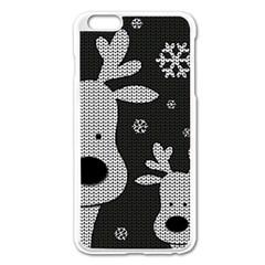 Cute Reindeer  Apple Iphone 6 Plus/6s Plus Enamel White Case by Valentinaart