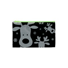 Cute Reindeer  Cosmetic Bag (xs) by Valentinaart