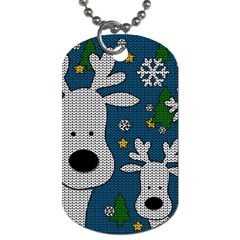Cute Reindeer  Dog Tag (one Side) by Valentinaart