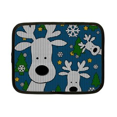 Cute Reindeer  Netbook Case (small)  by Valentinaart