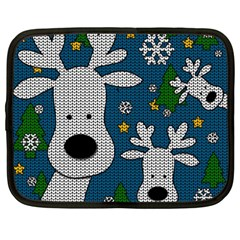 Cute Reindeer  Netbook Case (large) by Valentinaart