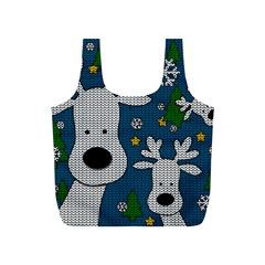 Cute Reindeer  Full Print Recycle Bags (s)