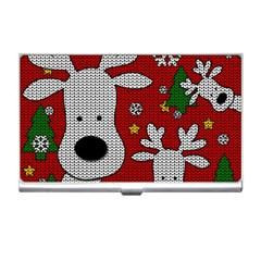 Cute Reindeer  Business Card Holders by Valentinaart