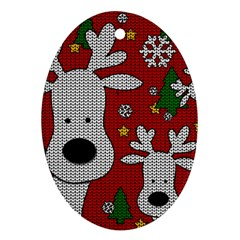 Cute Reindeer  Oval Ornament (two Sides) by Valentinaart