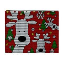 Cute Reindeer  Cosmetic Bag (xl) by Valentinaart