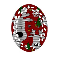 Cute Reindeer  Oval Filigree Ornament (two Sides) by Valentinaart