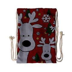 Cute Reindeer  Drawstring Bag (small) by Valentinaart