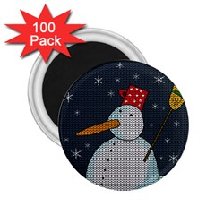 Snowman 2 25  Magnets (100 Pack)  by Valentinaart