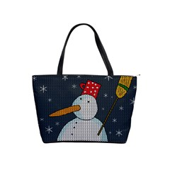 Snowman Shoulder Handbags by Valentinaart