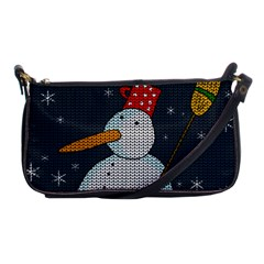 Snowman Shoulder Clutch Bags by Valentinaart