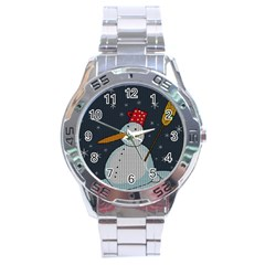 Snowman Stainless Steel Analogue Watch by Valentinaart