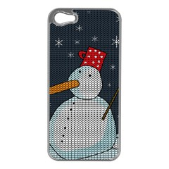 Snowman Apple Iphone 5 Case (silver) by Valentinaart