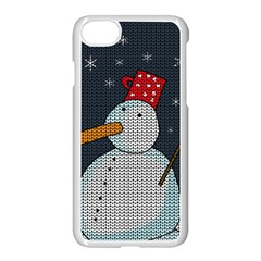 Snowman Apple Iphone 7 Seamless Case (white) by Valentinaart