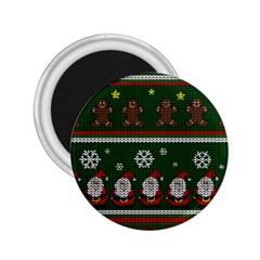 Ugly Christmas Sweater 2 25  Magnets by Valentinaart