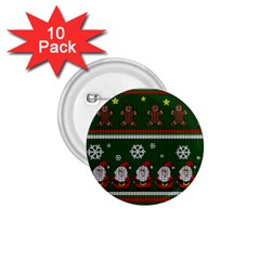 Ugly Christmas Sweater 1 75  Buttons (10 Pack) by Valentinaart