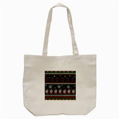 Ugly Christmas Sweater Tote Bag (cream) by Valentinaart
