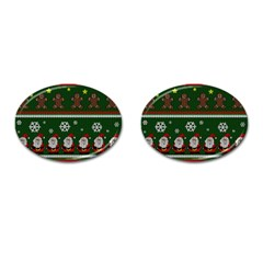 Ugly Christmas Sweater Cufflinks (oval) by Valentinaart