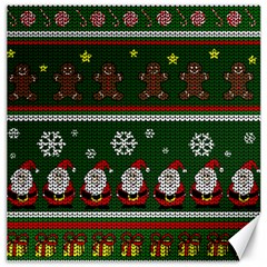 Ugly Christmas Sweater Canvas 20  X 20   by Valentinaart
