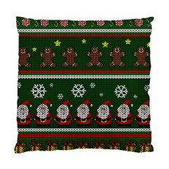 Ugly Christmas Sweater Standard Cushion Case (one Side) by Valentinaart