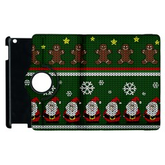 Ugly Christmas Sweater Apple Ipad 3/4 Flip 360 Case by Valentinaart