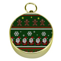 Ugly Christmas Sweater Gold Compasses by Valentinaart