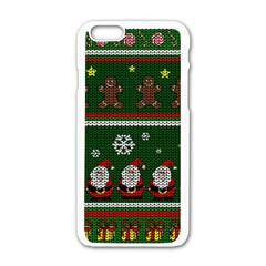 Ugly Christmas Sweater Apple Iphone 6/6s White Enamel Case