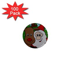 Santa And Rudolph Selfie  1  Mini Magnets (100 Pack)  by Valentinaart