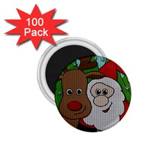 Santa And Rudolph Selfie  1 75  Magnets (100 Pack)  by Valentinaart