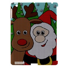 Santa And Rudolph Selfie  Apple Ipad 3/4 Hardshell Case (compatible With Smart Cover) by Valentinaart