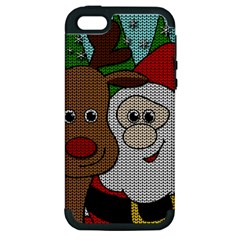 Santa And Rudolph Selfie  Apple Iphone 5 Hardshell Case (pc+silicone) by Valentinaart