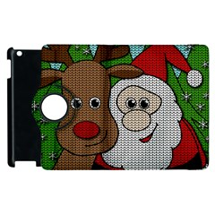 Santa And Rudolph Selfie  Apple Ipad 2 Flip 360 Case by Valentinaart