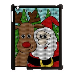 Santa And Rudolph Selfie  Apple Ipad 3/4 Case (black) by Valentinaart