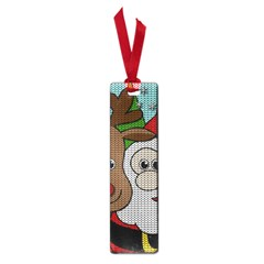 Santa And Rudolph Selfie  Small Book Marks by Valentinaart