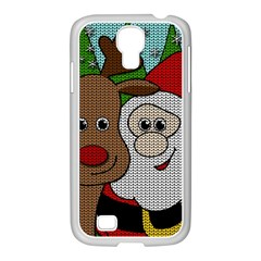 Santa And Rudolph Selfie  Samsung Galaxy S4 I9500/ I9505 Case (white) by Valentinaart