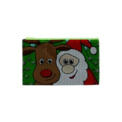 Santa And Rudolph Selfie  Cosmetic Bag (xs) by Valentinaart