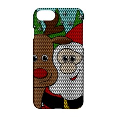 Santa And Rudolph Selfie  Apple Iphone 8 Hardshell Case by Valentinaart